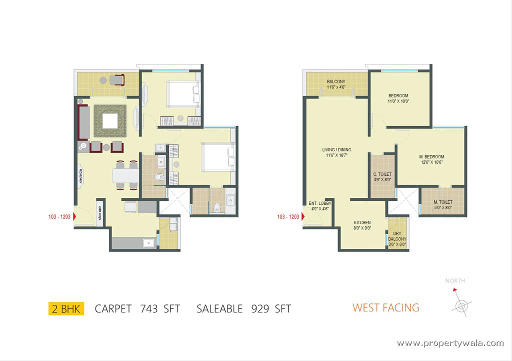 East facing 2 bedroom house plans as per vastu for 2bhk plan homes