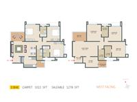 3 BHK West Facing