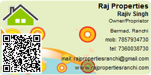 Visiting Card of Raj Properties