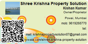 Visiting Card of Shree Krishna Property Solution