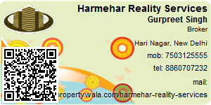 Visiting Card of Harmehar Reality Services