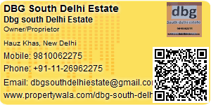 Visiting Card of DBG South Delhi Estate