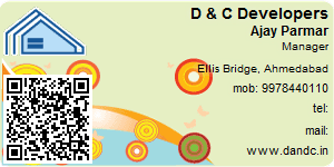 Visiting Card of D & C Developers Pvt Ltd
