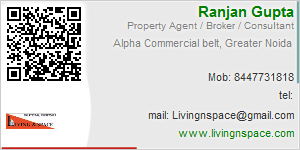 Visiting Card of Living and Space Promoters Pvt Ltd