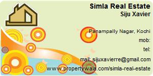 Visiting Card of Simla Real Estate