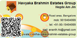 Visiting Card of Havyaka Brahmin Estates Group