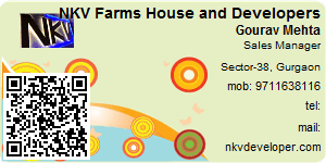 Visiting Card of NKV Farms House and Developers Pvt. Ltd.