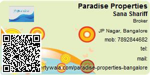 Visiting Card of Paradise Properties
