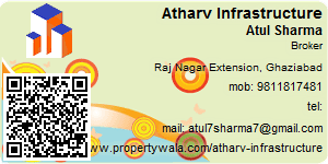 Visiting Card of Atharv Infrastructure Pvt Ltd