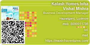 Visiting Card of Kalash Homes Infra