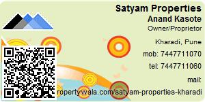 Visiting Card of Satyam Properties