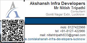 Visiting Card of Akshansh Infra Developers