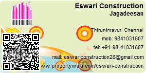 Visiting Card of Eswari Construction
