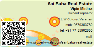 Visiting Card of Sai Baba Real Estate