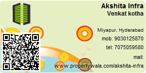Visiting Card of Akshita Infra