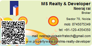 Visiting Card of MS Realty & Developer