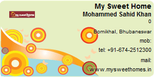 Visiting Card of My Sweet Home