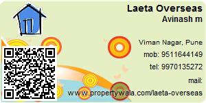 Visiting Card of Laeta Overseas
