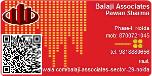 Visiting Card of Balaji Associates