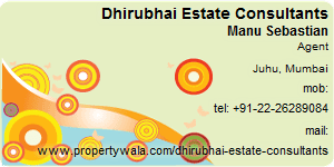 Visiting Card of Dhirubhai Estate Consultants