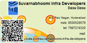 Visiting Card of Suvarnabhoomi Infra Developers