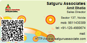 Visiting Card of Satguru Associates