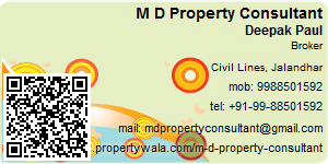 Visiting Card of M D Property Consultant