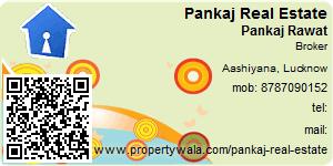 Visiting Card of Pankaj Real Estate