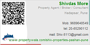 Visiting Card of Shiv Properties Pune