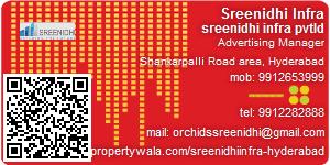 Visiting Card of Sreenidhi Infra Pvt Ltd