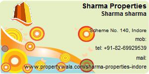 Visiting Card of Sharma Properties