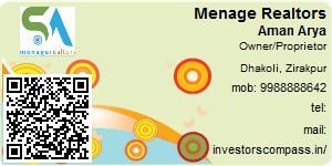 Visiting Card of Menage Realtors