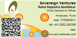 Visiting Card of Sovereign Ventures Pvt. Ltd