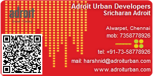 Visiting Card of Adroit Urban Developers Pvt Ltd