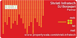 Visiting Card of Shristi Infratech