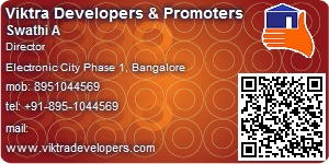 Visiting Card of Viktra Developers & Promoters