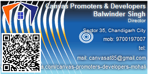 Visiting Card of Canvas Promoters & Developers