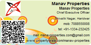 Visiting Card of Manav Properties