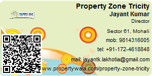 Visiting Card of Property Zone Tricity Pvt. Ltd.