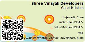 Visiting Card of Shree Vinayak Developers