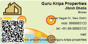 Visiting Card of Guru Kripa Properties