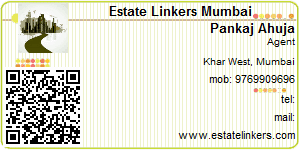 Visiting Card of Estate Linkers Mumbai