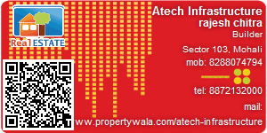 Visiting Card of Atech Infrastructure