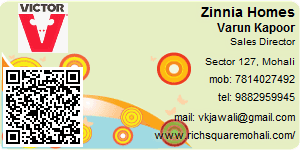 Visiting Card of Zinnia Homes