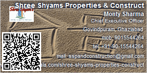 Visiting Card of Shree Shyams Properties & Construct