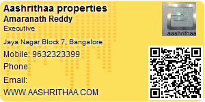 Visiting Card of Aashrithaa properties