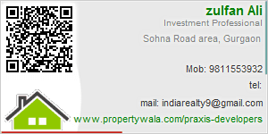 Visiting Card of Praxis Developers  Pvt Ltd