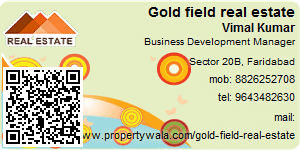 Visiting Card of Gold field real estate pvt ltd