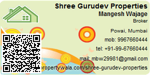 Visiting Card of Shree Gurudev Properties