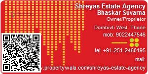 Visiting Card of Shreyas  Estate  Agency